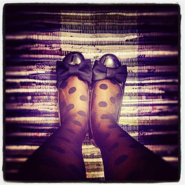 ⚫ polka dots & stripes ⚫ polkadots black flats shoes bow feet ...