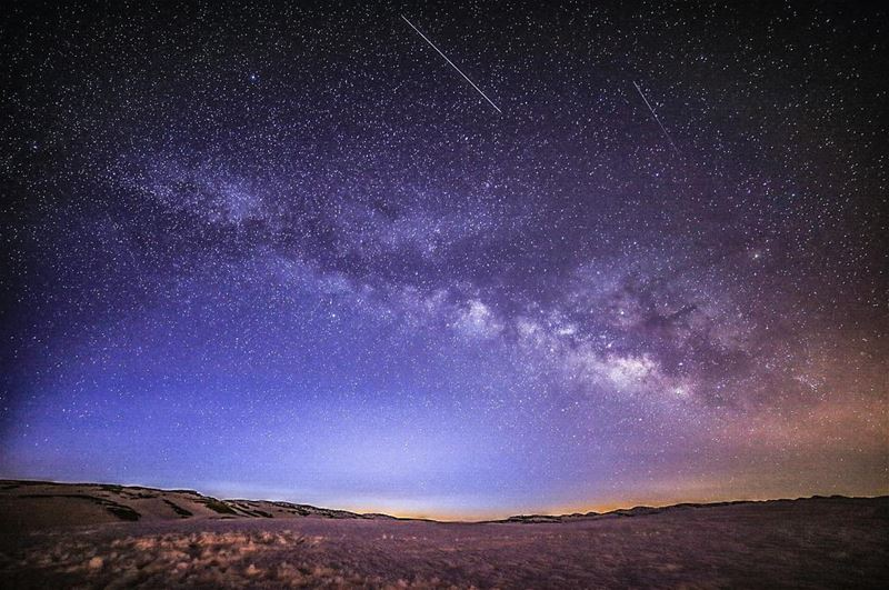 Indescribable beauty milkyway ... February night sky ✨ (Jerd El Akoura)