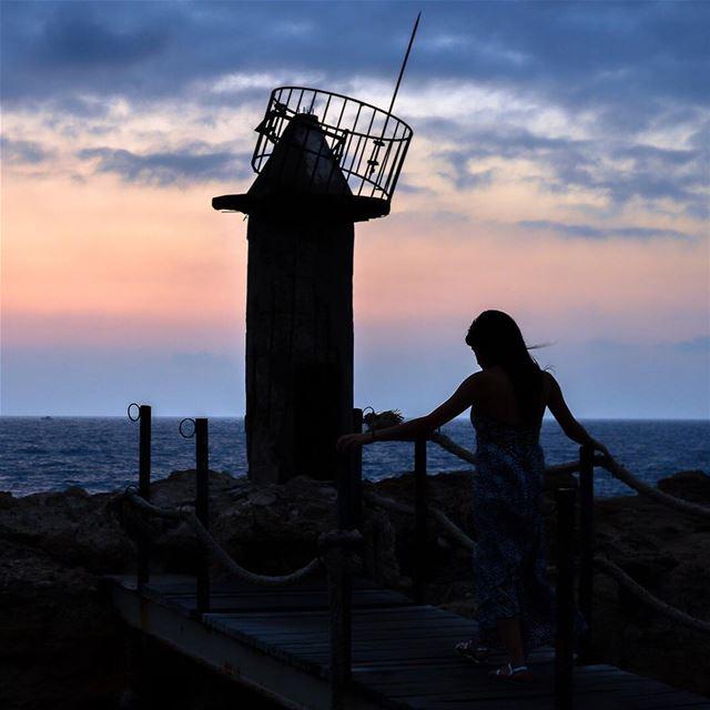 What can you see beyond the Horizon ? lebanon batroun port old ... (Port Batroun)