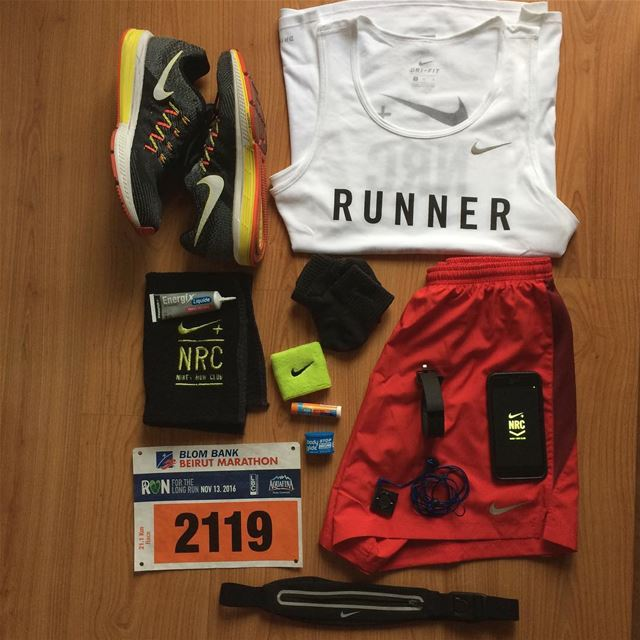 See you at the finish line!✌🏻️🤘🏻🏃🏅 Thank you NRC beirutmarathon ... (Nike DT)