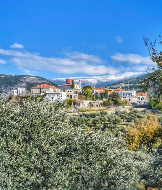 عَرجِس: البلدة النموذجية 🌿🌾🏡🌾🌿 صباح الأمل والرجاء 💚... (Arjes, Liban-Nord, Lebanon)