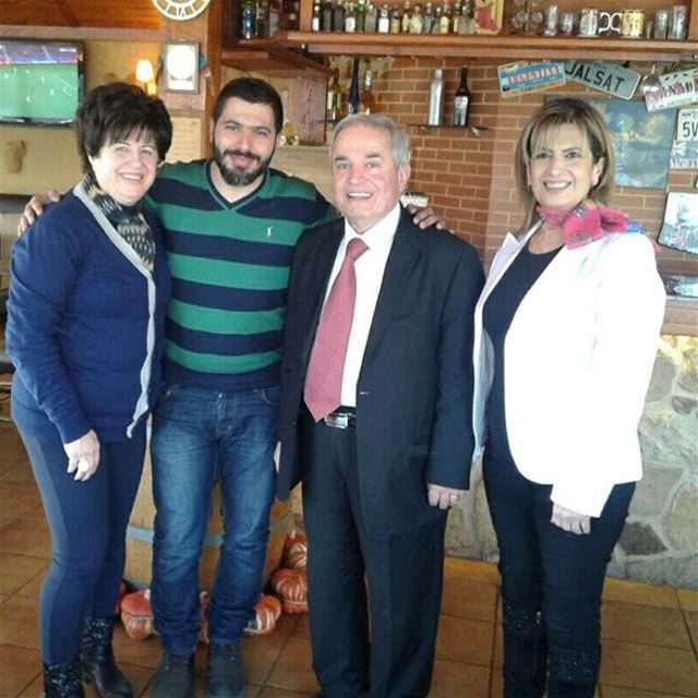Welcoming the poet Elias Khalil at jalsat restaurant mayrouba faraya ... (Jalsat)