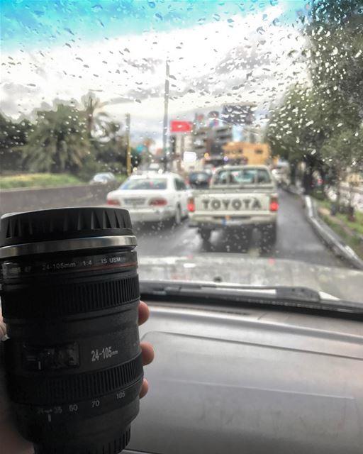 Cold rainy Friday in traffic, Gm Lebanon 🇱🇧 (Joünié)