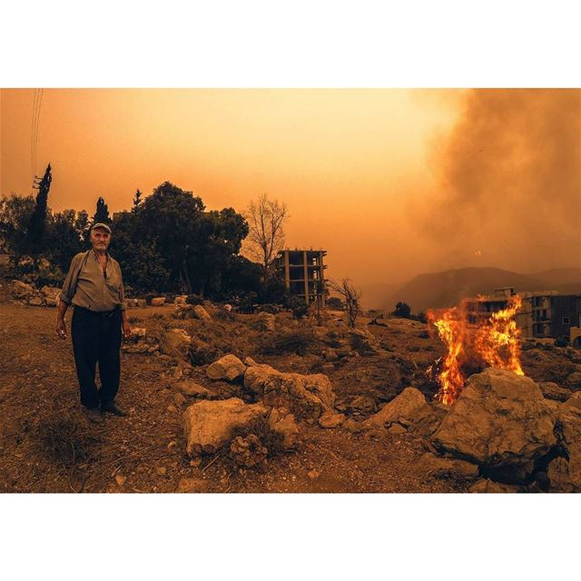 "I photographed this old man ""Radi"" burning grass during susnet . © Milad..."