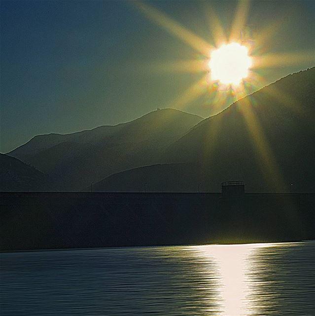 Sunset captured 📷📷 from Qaroun Lake, West... (Qaraaoun, Béqaa, Lebanon)