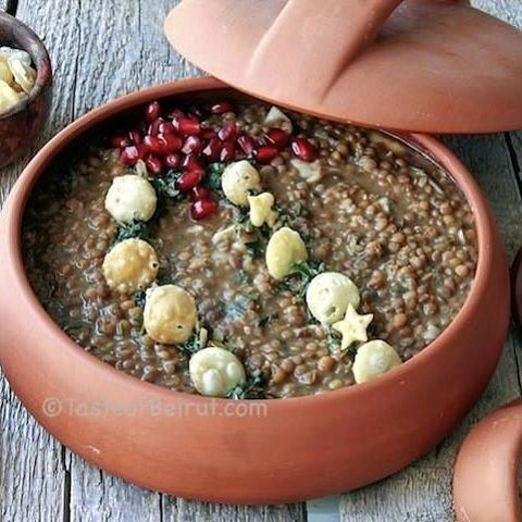 A yummy vegan dish from Syria. Lentils never tasted so good! @omrbbn. Link... (Beirut, Lebanon)