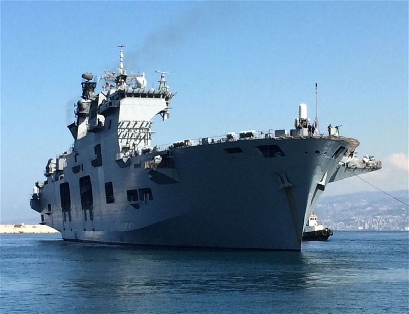 Majestic site Her Majesty's Ship  HMSOcean arrives to  BeirutPort. ...