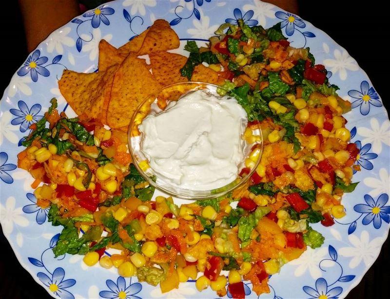 This is so yummy! salad doritos chips doritoschips doritossalad yummy...