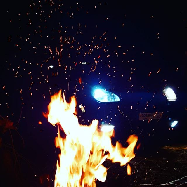 fire fireplace evening night lights nightlights lebanon mountain ... (Kfarmatta)