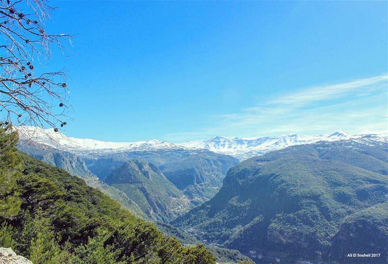 tb aytou winter northlebanon mountains snow nature green sky ... (Ayto)