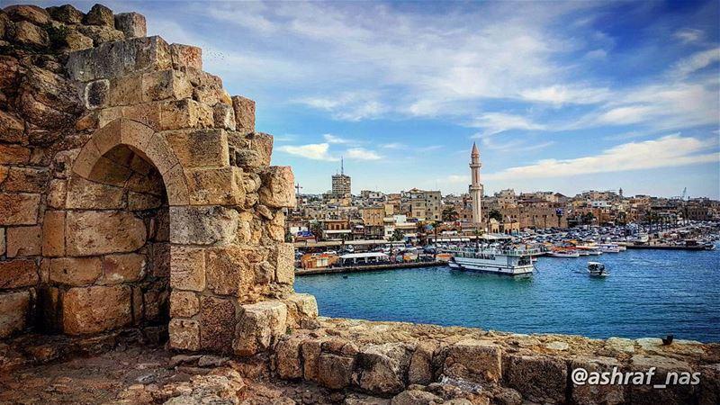 هل جنة الله إلا حيثما هنئت عيناككل إتساع بعد بهتان... هنا على شاطئ أو فوق... (Saida The Sea Castle)