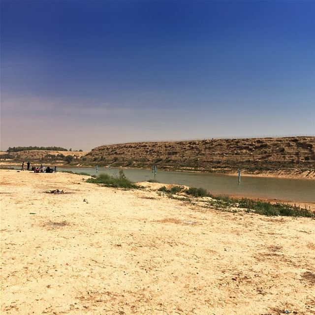 Picnic by the water... people will always find good places and good things... (Wadi Hanifah - Riyadh)