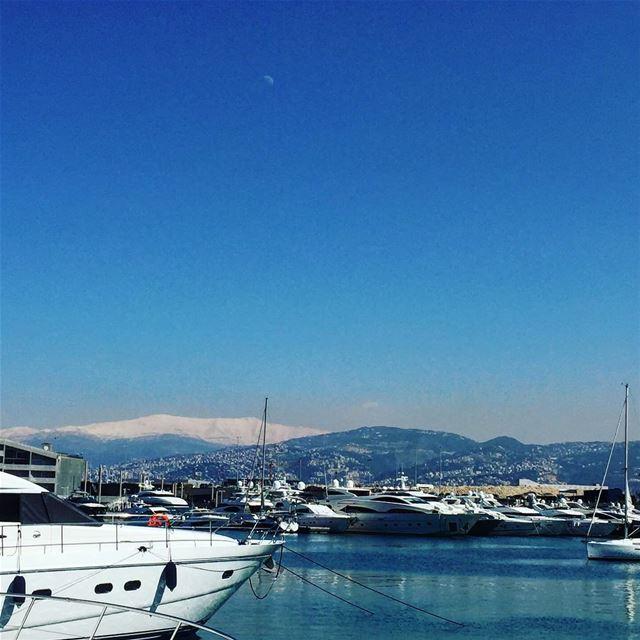 Amazing day in Beirut today 🇱🇧🇱🇧 goodmorning specialmadamefigaro ... (Zaitunay Bay)
