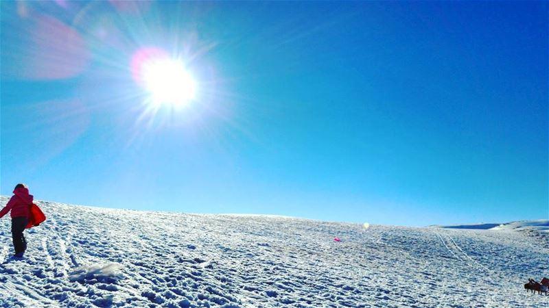 🌞 tb yesterday sunday sun sunnyday sunny day snow snowman fun play...