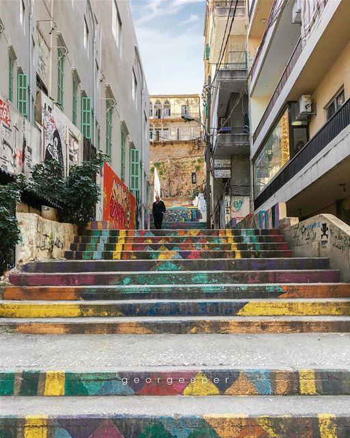 Beirut in colors 🇱🇧.... proudlylebanese beautifullebanon ... (Beirut, Lebanon)