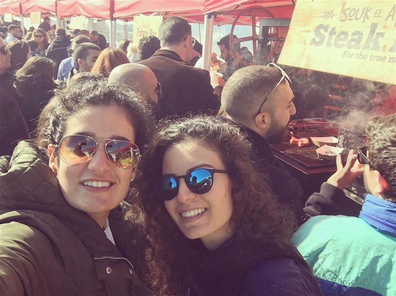 """The team @croquemonsieurleb at @soukelakel..""""When you find someone who... (Tannourine Cedars Nature Reserve)"""