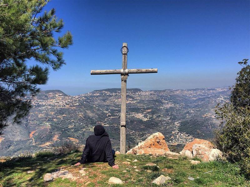 My faith in Christ has no limits 💒 ... (Jabal Al Salib - Deir El Kamar)
