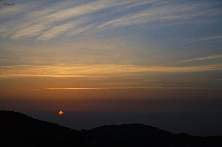 The last of winter sunsets 🌅 photo love photograph photography ... (Lihfid, Mont-Liban, Lebanon)