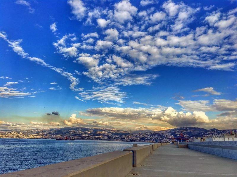 Phoenix Rising .... beirut clouds nature sky_captures cloudporn ... (Zaytona Bay Lebanon)