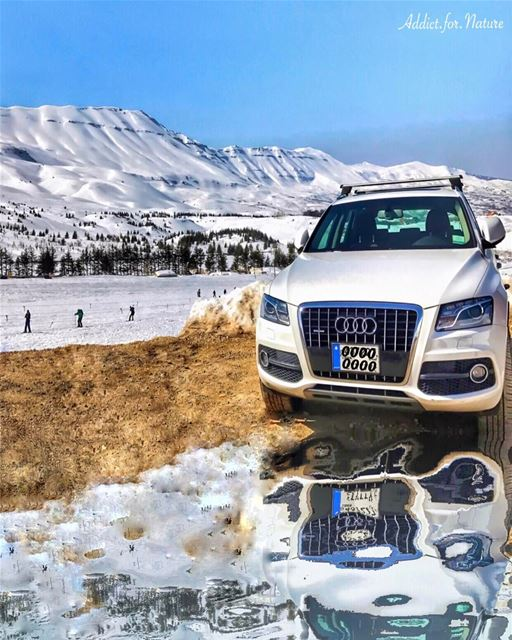reflection reflectionlovers 4x4 cedars lebanon mountains snow ... (Cedars Mountains)