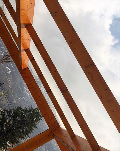 Cedar Wood up in the Cedars! PergolaKitsLebanon. pergola Cedars Wood ... (Bsharri, Cedars)