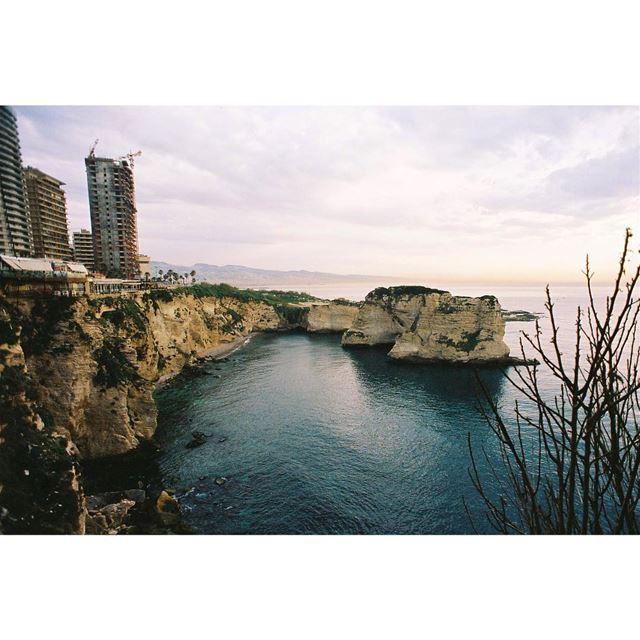Till we meet again——— kodak 35mm beach sundown justgoshoot ... (Rawshe, Beirut)