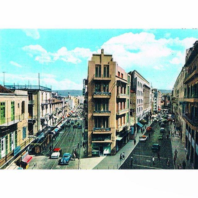 Beirut Weygand Street In 1959 .