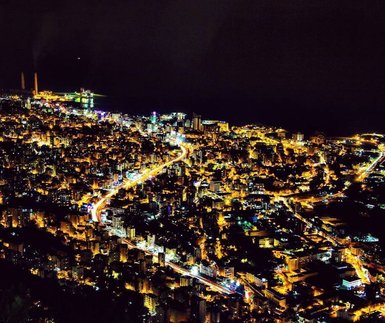 Lebanese  night from Harissa ... longexposure_shots  longexpoelite ...