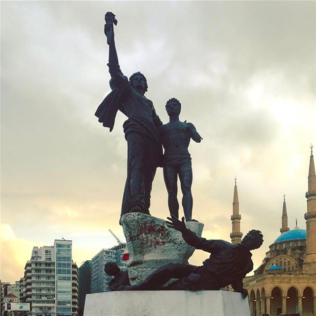 Martyrs have to choose between being forgotten, mocked or used. As for... (Martyrs' Square, Beirut)
