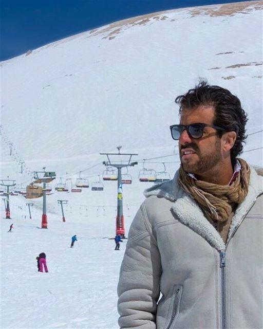 O empresário e apresentador brasileiro Alvaro Garnero @alvarogarnero também (Téléskis des Cèdres - Cedars Ski Resort - Arz)