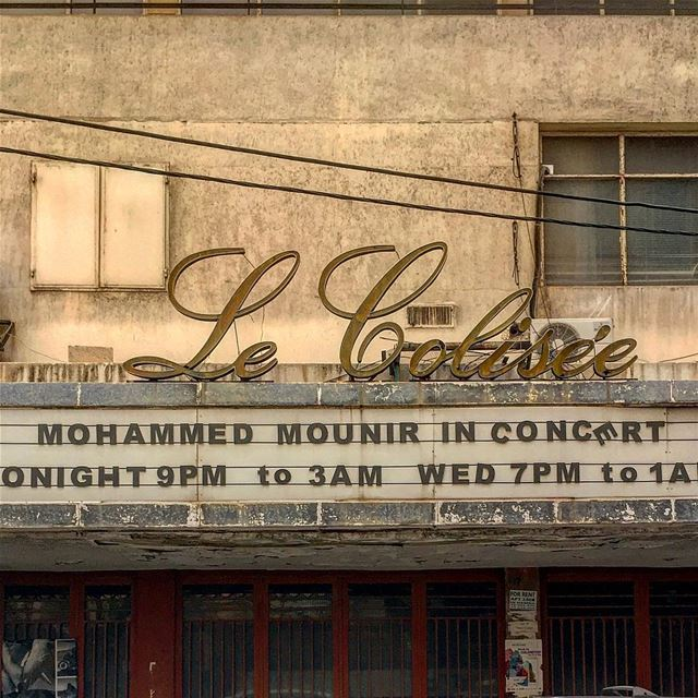 Show must go on! Le Colisée has been closed for a long time now, but the... (Hamra - حمراء)