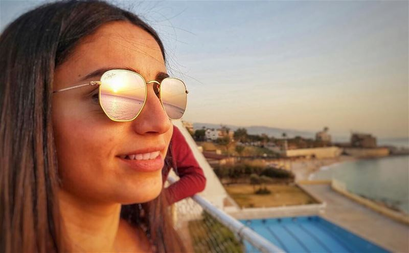 sunset reflection 👓🌅 livelovelebanon livelovenature reflection ...