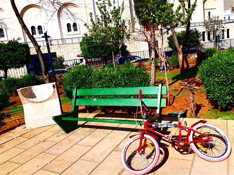 Ride ... When life gets complicated ... achrafiye saintnicolasgarden ... (Saint Nicolas garden)