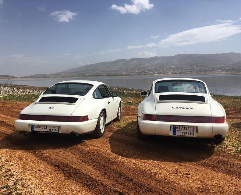 porsche 964 white pair 911 carrera sundayride porscheclassic ...