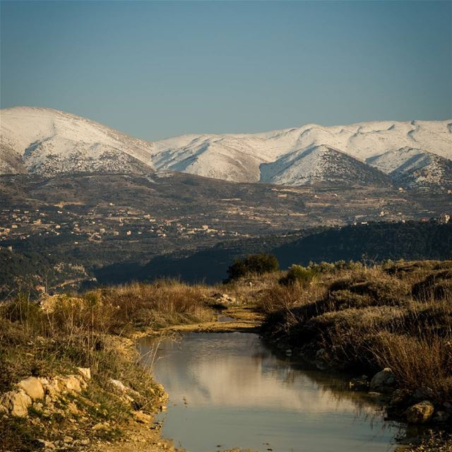 snow  sky  land  water  mountain  stream  grass  rocks  nature  lebanon ...