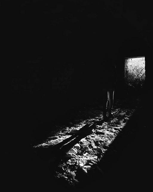 ~ Abandoned ~... abandoned abandonedplaces creepy silhouette ... (Beirut, Lebanon)