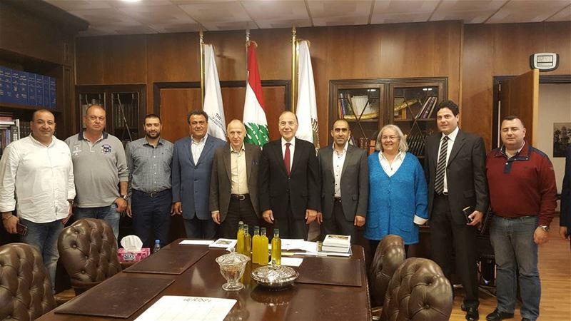 لقاء في غرفة الشمال مع سفير اوكرانيا في لبنان ورئيس الغرفة مع رئيس جمعية تج (غرفة التجارة والصناعة والزراعة في طرابلس والشمال)