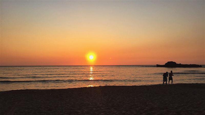 🎞Sunday by the beach 🎞 nofilter lebanon jbeil byblos sunset ... (Byblos - Jbeil)