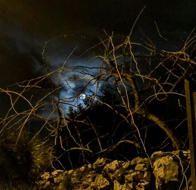 Full Moon instame instamood instahub lebanon annaya st charbel silence... (St. Charbel, Aannaya)