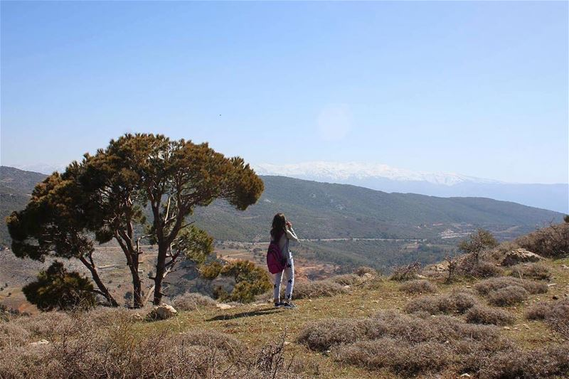 hiking aramta jezzine tree mountains sky nature naturelover southlebanon... (`Aramtá, Al Janub, Lebanon)