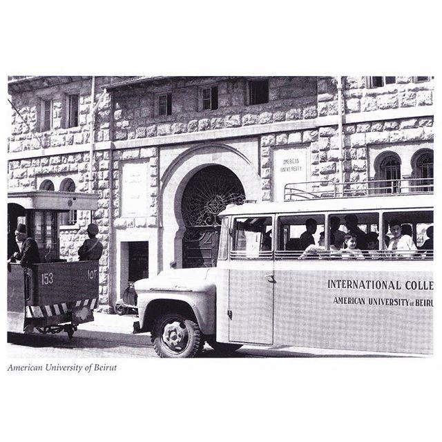 Beirut AUB Main Gate In 1956 .