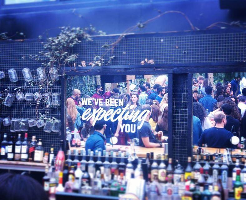 wecame 🙋...@gardenstatebeirut beirut lebanon bar mirror ...
