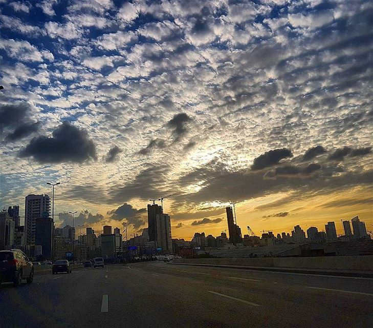 An amazing sunset from Beirutبيروت - الطريق العام Photo taken by @el_daye (Beirut, Lebanon)