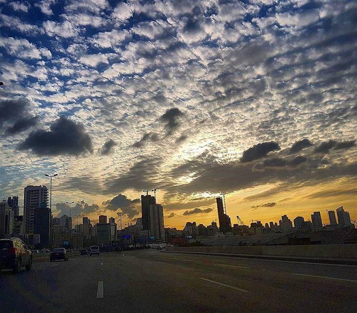 An amazing sunset from Beirutبيروت - الطريق العام Photo taken by @el_daye (Beirut, Lebanon)