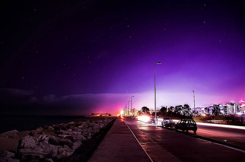 The road of lights And concrete dreams🌌🌌..... night... (Waterfront City)