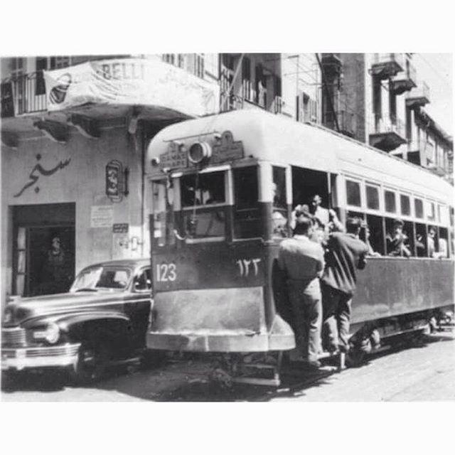 TramwayBeirut Bab Idriss In 1954 .
