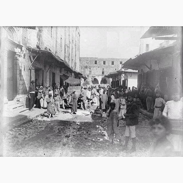 Saida Near The Khan In 1918 .