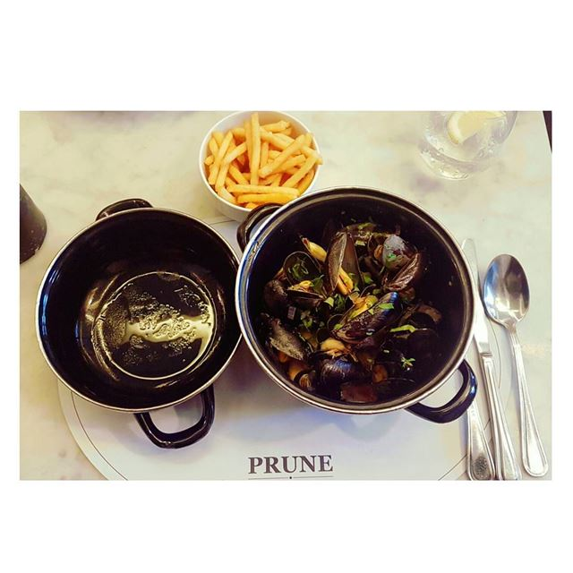 Neat--- Prune Lebanon marmikhael lunch mussels moules fries food... (PRUNE French Bistro - Lebanon)