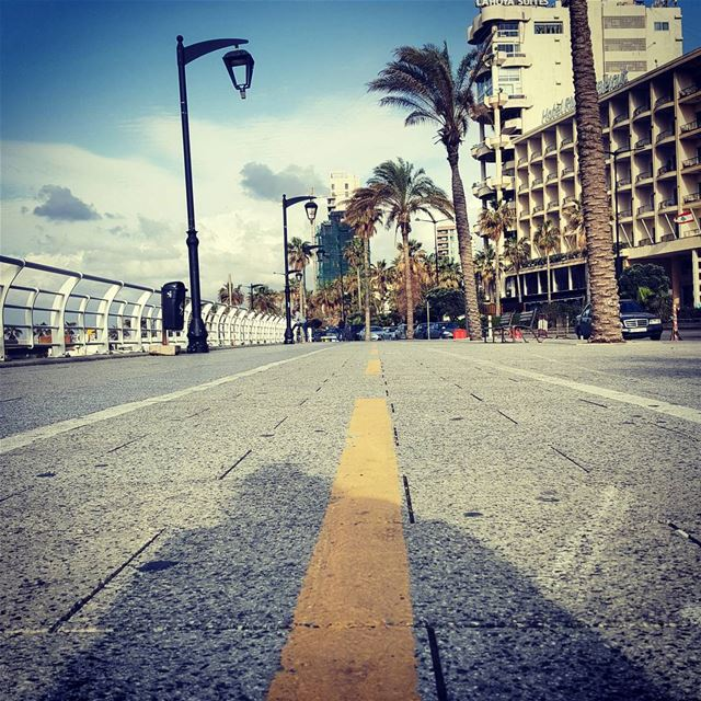The Road is mine..Till the end.. no matter what it takes..🏃... ...... (Beirut, Lebanon)