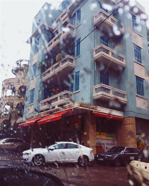 Rain drops x blue house 🎐 beirutbyalocal lebanonbyalocal beirut... (Beirut, Lebanon)